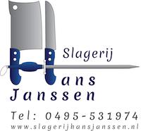Logo slagerij hans janssen klein
